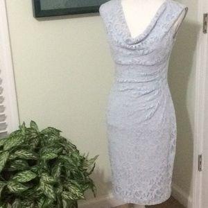 ❤️ EUC Lauren RL powder blue lace dress size 6